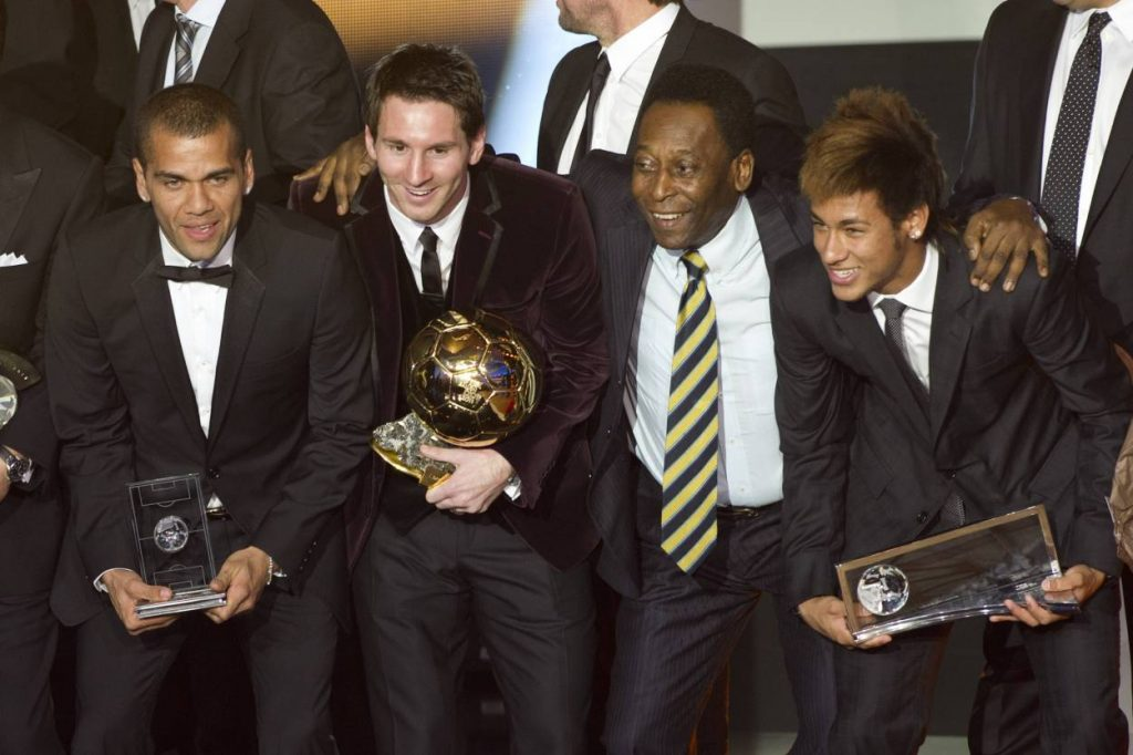 Alves, Messi, Neymar, Pele