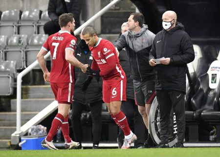 Liverpool boss Jurgen Klopp applauds returning Thiago as the midfielder played 20 minutes in a 0-0 draw against Newcastle.