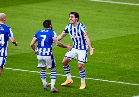 Portu scored the winner as Real Sociedad recorded their first win in last four La Liga games and move third in LaLiga.