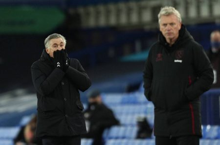 Everton boss Carlo Ancelotti has faced David Moyes more times in the Premier League without winning than against any other manager, drawing three and losing three of their six meetings.