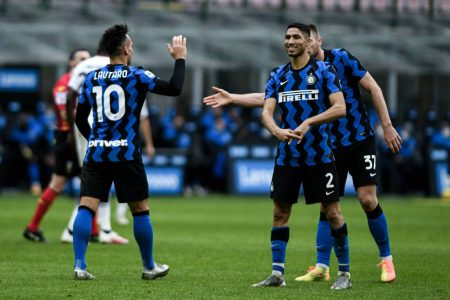 Lautaro Martinez bagged a hat-trick in Inter Milan's 6-2 win over Crotone as Conte's men go two points clear at the top of Serie A.
