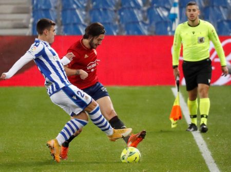 Ander Barrenetxea scored the equaliser as Real Sociedad dropped points against 19th-placed Osasuna and keep third position in LaLiga.