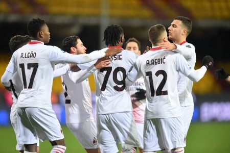 Sandro Tonali sent off but 10-man AC Milan still managed a 2-0 win over Benevento and regain top spot in Serie A.