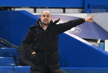 Manchester City manager Pep Guardiola hails his team performance after a comfortable 3-1 win away at Chelsea.