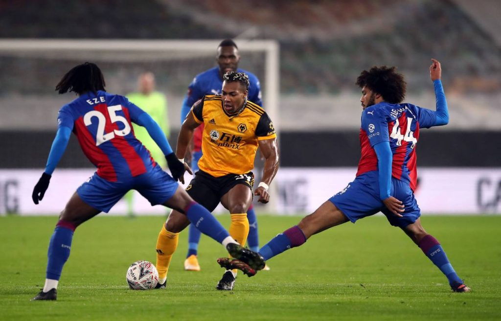 Crystal Palace had zero shots on target against Wolves