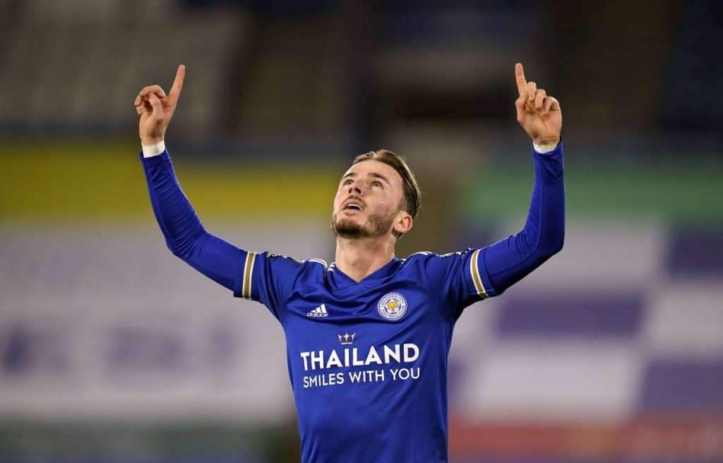 James Maddison scored in consecutive Premier League games for Leicester for the first time since October 2019, matching his goal tally at home from each of the previous two campaigns (three).