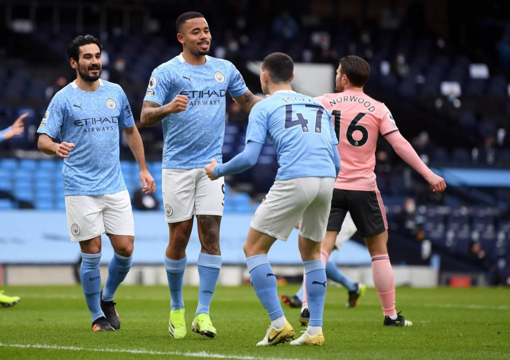 Manchester City set a new club record for 12 consecutive wins