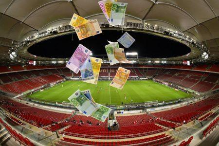 Geld, Stadion, Fußball