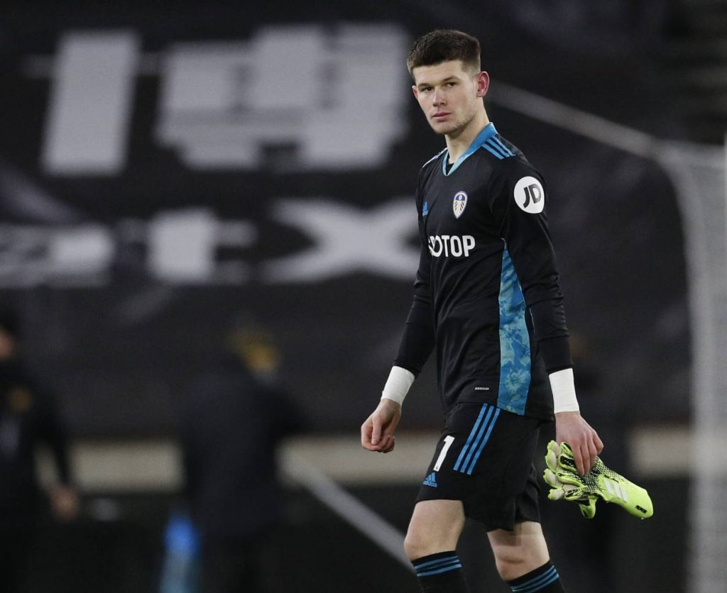 Leeds' Illan Meslier (20 years and 354 days) became the youngest goalkeeper to score an own goal in the Premier League.