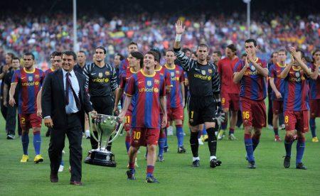 Laporta Barcelona Messi