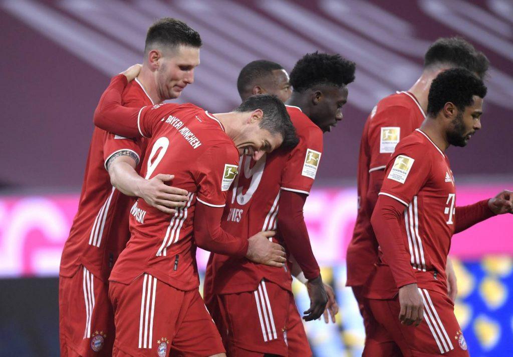 Robert Lewandowski's hat-trick was his 13th in the Bundesliga