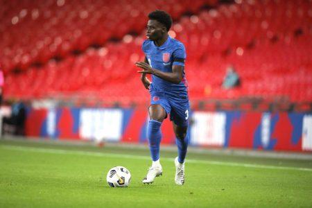 Bukayo Saka played the majority of Arsenal's draw at West Ham last weekend