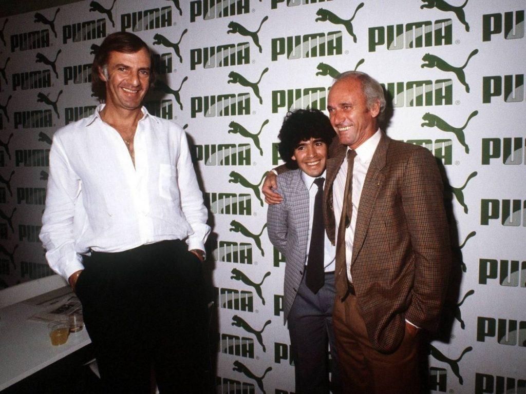 Menotti, Maradona und Udo Lattek. Der Deutsche verlor den Machtkampf gegen Maradona und musste gehen.