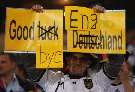 Good bye England - Rachegdanken deutscher Fans. Wembley 1966 ist unvergessen.