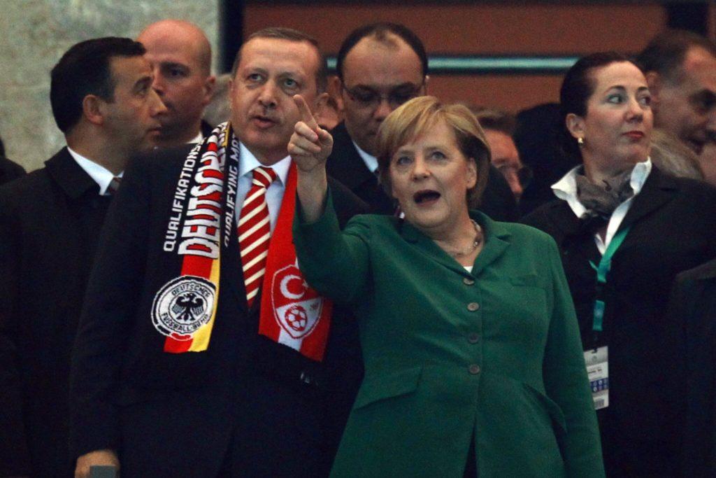 Angela Merkel und der türkische Präsident Erdogan.