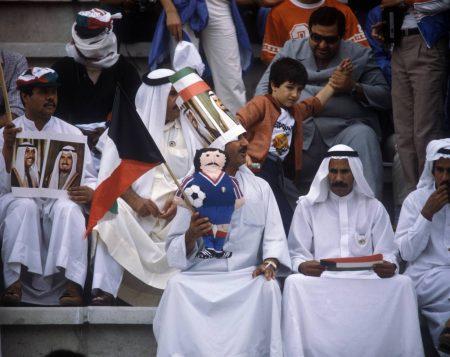 Die Anhänger des kuwaitischen Teams bei der WM 1982.