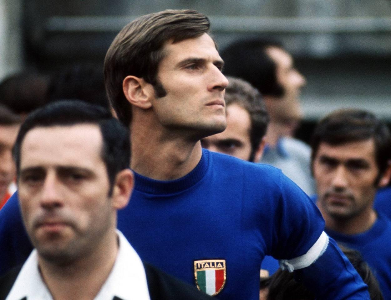 Giacinto Facchetti war 1968 Italiens unumstrittener Kapitän.