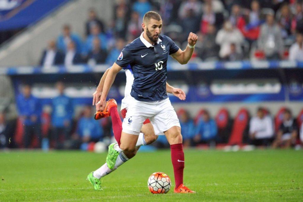 Karim Benzema in seinem letzten Länderspiel für Frankreich am 8. Oktober 2015 gegen Armenien. F