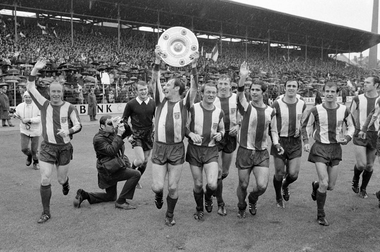 Die erste deutsche Meisterschaft am 07.06.1969 in der Bundesliga.