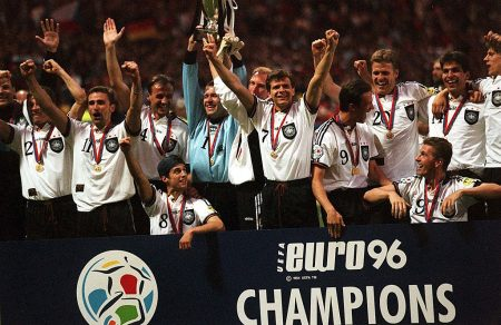 Deutschland wird 1996 Europameister.